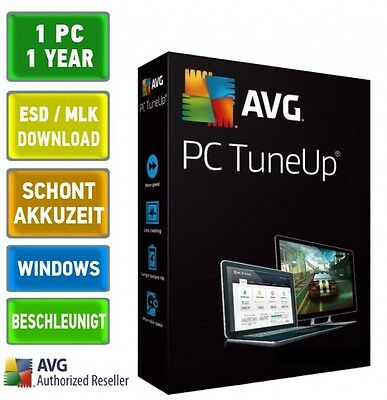 AVG TUNEUP 2018 1 PC 1 Jahr Vollversion Utilities Tune Up