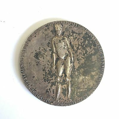 Exposition Universal Brussels  Silver? Coloured Bronze? Medallion 1958 Leplae