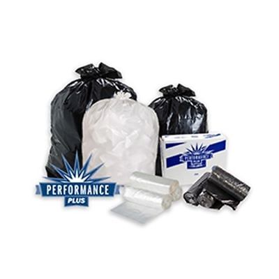"""Performance Plus .35 Mil 33 Gal. High Density Can Liner, 33""""x39"""", Clear, Case of"""