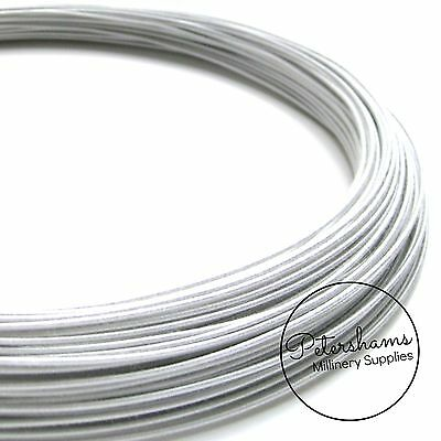 Standard Price for - White 19 Gauge Cotton Covered Wire for Millinery Craft