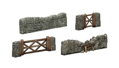 44-580 Dry Stone Walling and Gates Buildings OO Bachmann