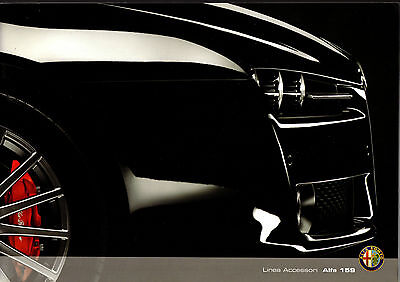 Alfa Romeo 159 Accessories 2008-09 UK Market Sales Brochure Saloon Sportwagon