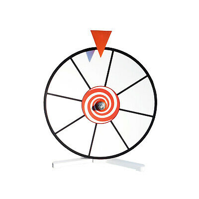 "12"" White Face Dry Erase Spinning Prize Wheel Kid Safe Pegless Design"