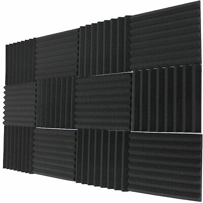 """12 Pack Acoustic Wedge Studio Soundproofing Foam Wall Tiles 12"""" X 12"""" X 1"""" USA"""