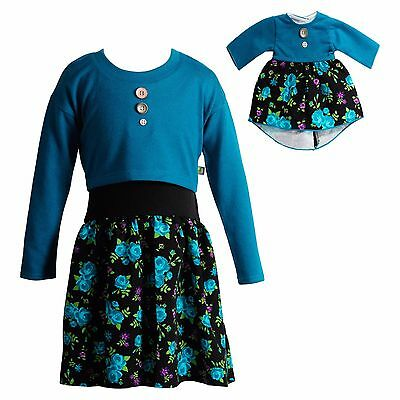 Dollie Me Girl and Doll Matching 4-8 Popover Floral Dress Clothes American Girl
