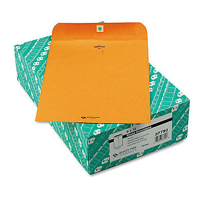 Quality Park Clasp Envelope 9 x 12 32lb Brown Kraft 100/Box 37790