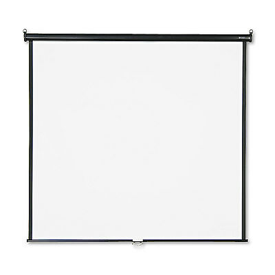Quartet Wall or Ceiling Projection Screen 70 x 70 White Matte Black Matte Casing