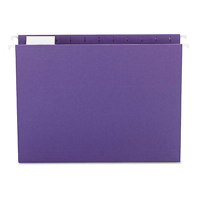 Smead Hanging File Folders 1/5 Tab 11 Point Stock Letter Purple 25/Box 64072