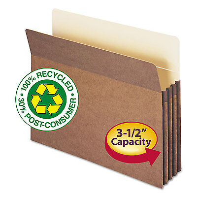 Smead 100% Recycled Pocket 3 1/2 Inch Exp Letter Redrope 25/Box 73205