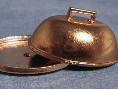 Streets Ahead Dolls House 1/12th Scale Copper Serving Tray & Dome D1711