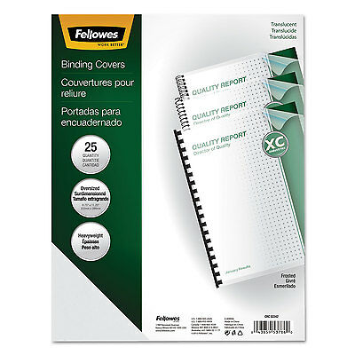 Fellowes Futura Binding System Covers Round Corners 11 1/4 x 8 3/4 Frost 25/Pack
