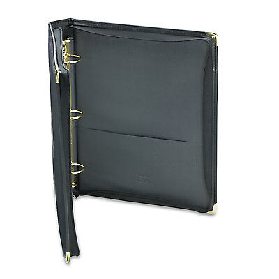 "Samsill Classic Collection Zippered Ring Binder 11 x 8 1/2 1 1/2"" Cap Black"