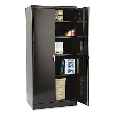 "Tennsco 78"" High Deluxe Cabinet 36w x 24d x 78h Black 2470BK"