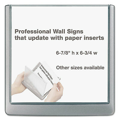 Durable Click Sign Holder For Interior Walls 6 3/4 x 5/8 x 6 7/8 Gray 497837