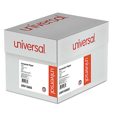 UNIVERSAL Computer Paper 20lb 14-7/8 x 11 White 2400 Sheets 15865