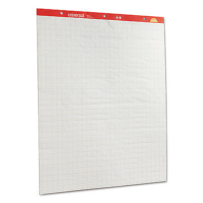 UNIVERSAL Recycled Easel Pads Quadrille Rule 27 x 34 White 50 Sheet 2/Ctn 35602