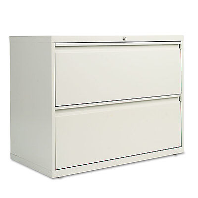 Alera Two-Drawer Lateral File Cabinet 36w x 19-1/4d x 28-3/8h Light Gray