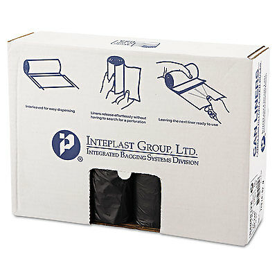 Inteplast Group High-Density Can Liner 40 x 48 45gal 12mic Black 25/Roll 10