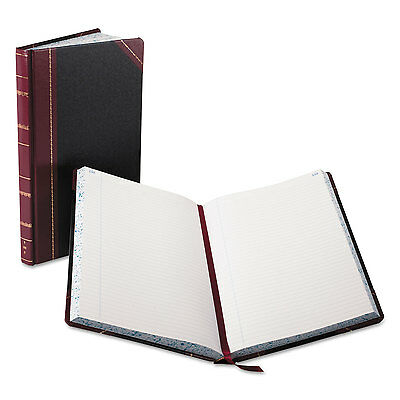 Boorum & Pease Record/Account Book Black/Red Cover 300 Pages 14 1/8 x 8 5/8