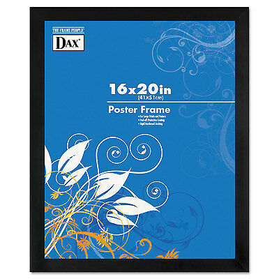 Dax Black Solid Wood Poster Frames w/Plastic Window Wide Profile 16 x 20 2863V2X