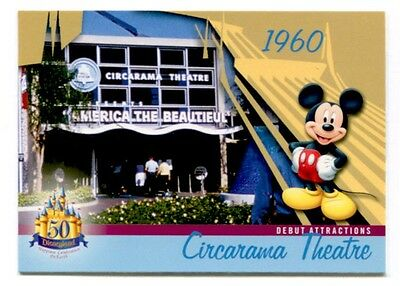 Bell Circarama Theater Disneyland 1960 Attraction 50 Years Trading Card # DL-27