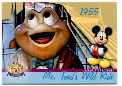 Mr. Toad's Wild Ride Disneyland 1955 Attraction 50 Years Trading Card # DL-02