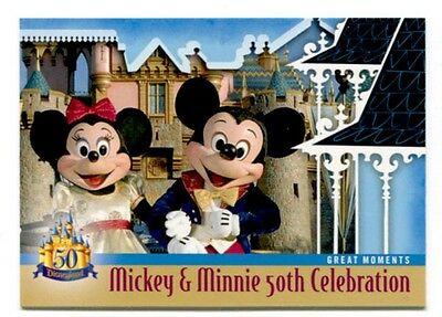 Disneyland Mickey Minnie Mouse Celebrate 50th Anniversary Trading Card # DL-106
