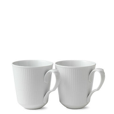 White Fluted Becher 37 cl 2er Set Royal Copenhagen