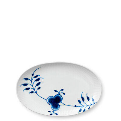 Blue Fluted Mega Servierplatte oval 23 cm Royal Copenhagen