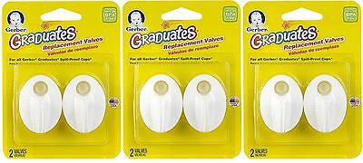 6 NUK Replacement Valves Gerber Graduate Spill Proof Sippy Cups FREE SHIPPING