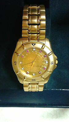 Coca-Cola Commission Jostens Watch. Case and strap 18k gold.