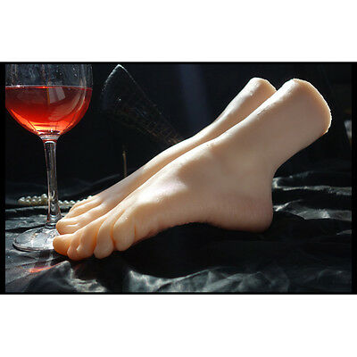 Grils Dancer Gymnast Simulation Silicone  Foot Partial-Bbody Mannequin Model New