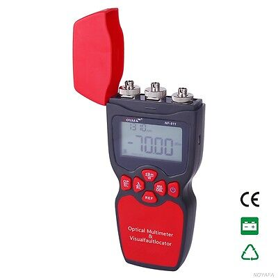 NF-911 3-in-1 Optical Multimeter Optical Fiber Tester Visual Fault Locator Light