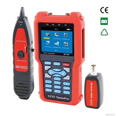 CCTV Tester NF-707 Analog & CVBS Signal, cable tester tracker Optical power mete