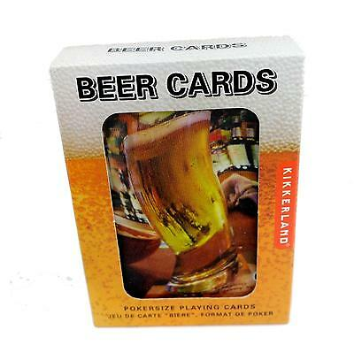 Kikkerland Playing Cards, Beer Lenticular 3D