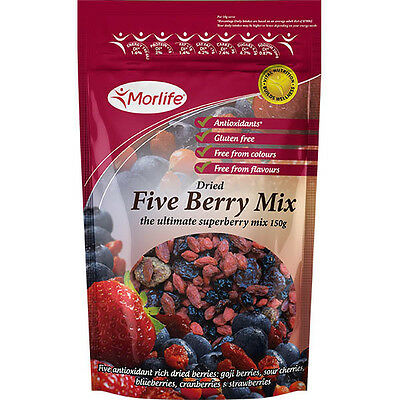 Morlife Five Berry Mix 150g | Antioxidants | Dried Fruit | Health Snack