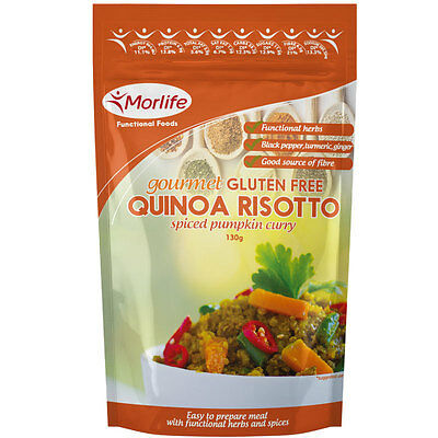 Morlife Quinoa Risotto Spiced Pumpkin Curry 130g x 4 | Gluten Free | Healthy