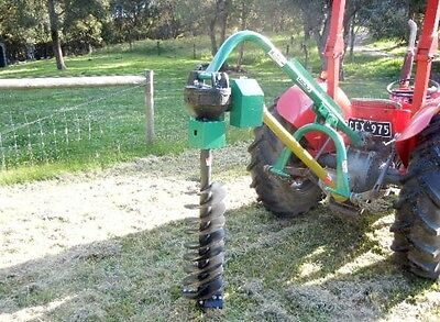 """Hayes Pto Tractor Post Hole Digger Standard Duty With 12"""" Auger- 3 Point Linkage"""