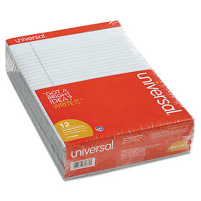 UNIVERSAL Colored Perforated Note Pads 8 1/2 x 11 Blue 50 Sheet Dozen 35880