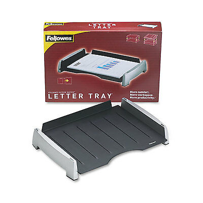 Fellowes Office Suites Side Load Letter Tray Plastic Black/Silver 8031701