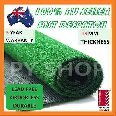 20 SQM Artificial Grass Synthetic Turf Plastic Olive Plant Fake Lawn Flooring 19