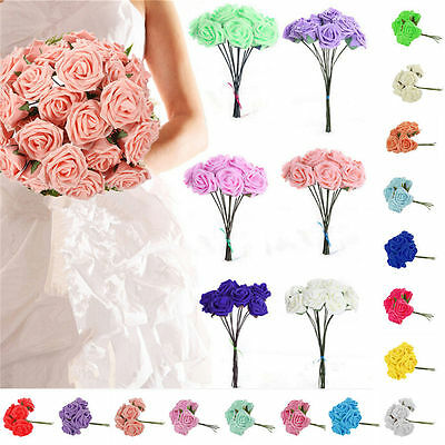 100 Colourfast Foam Roses Flowers Wedding Bride Bouquet Party Flowers Home Decor
