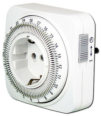 EcoSavers 24 Hour Timer Analogue time switch EU PLUG 230V Energy Saving Electric