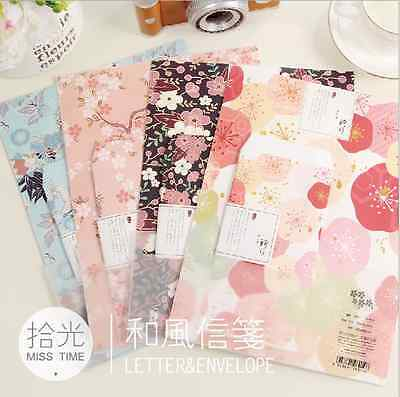 Cute Sweet Letter set Writing Stationary paper & Envelope for Postcard &Letter