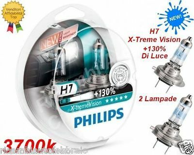 Blister 2 Lampade Lampadine Philips H7 X-TREME Vision +130% LUCE Bianca a 3700K