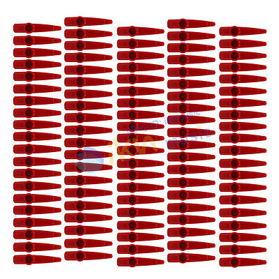 Pack of 100pcs Kazoo Kids Toy Wind Instrument Red Plastic Kazoo