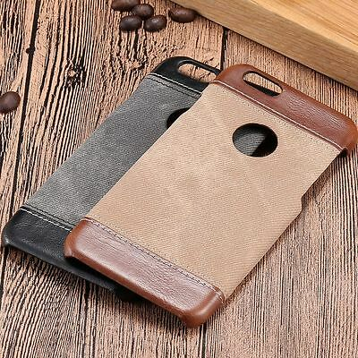 Luxury Genuine PU Leather Hard Back Case Cover For iPhone 7 Plus Samsung Galaxy