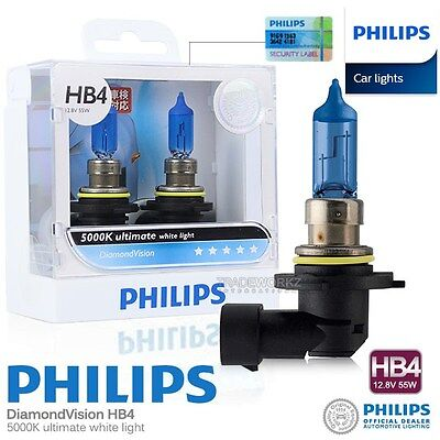 Genuine PHILIPS HB4 Diamond Vision Hi Lo Halogen Bulb 5000K 12V 55W Car Light