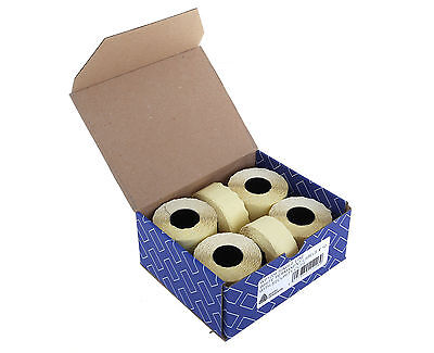 YP1226 Avery Pricing Gun Labels - 26 x 12 - Yellow - 10 Rolls (15,000 Labels)