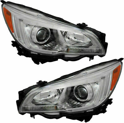 Fit Subaru Legacy Outback 2015 2016 2017 Headlights Halogen Head Lamps Pair Set